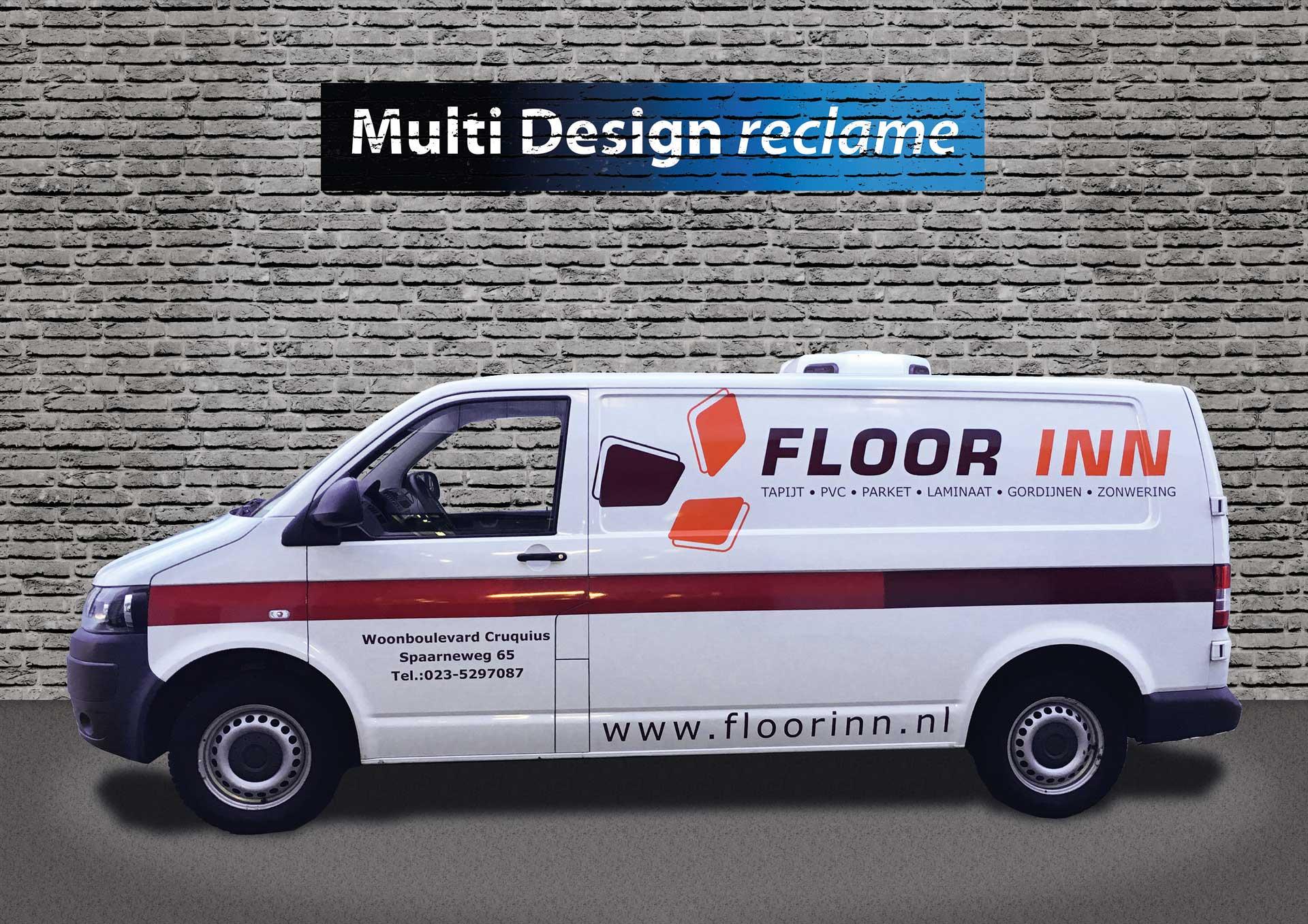 Multi Design Reclame - Autoreclame - Floor Inn